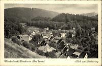 Bad Grund Harz Postkarte 1952 gelaufen Panorama Blick vom Gittelder Berg