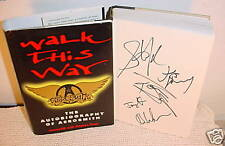 AEROSMITH-Walk This Way-SIGNED Autobiography-HC/DJ-1st