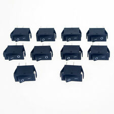 10 x AC 15A /250V 20A /125V  2 Pin On-Off  SPST Boat Rocker Switch Black