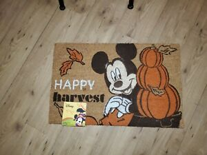 """Disney Mickey Mouse  Happy Harvest Decoration Outdoor Mat Rug 18"""" x 28"""" New"""