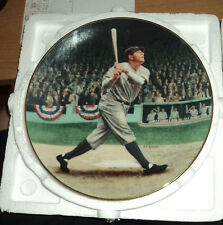 Babe Ruth The Called Shot collector plate The Legends of Baseball Delphi 22Kt