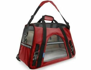 Pet Carrier Paws & Pals Sm Red Airline Dog Cat Soft Side Comfort Travel BagNWT