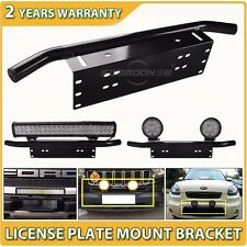Bull Bar Front Bumper License Plate Mount Bracket Holder Offroad Light Bar 23""