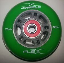 wheels for rip-stick, flex-board or wave-board with bearings abec 9 Green