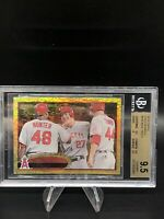 2012 Topps Mike Trout 446 Gold Sparkle BGS 9.5