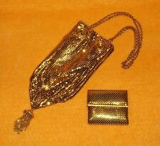 AUTHENTIC RARE WHITING & DAVIS DRAWSTRING STYLE PURSE WITH FREE MINI BILLFOLD
