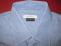 $295 VERSACE COLLECTION COTTON DRESS SHIRT 16.5/42 BLUE/WHITE STRIPE NEW