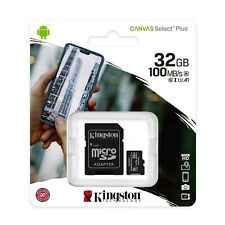 KINGSTON 32GB Micro SD SDHC MEMORY CARD CLASS 10 MEMORY With SD CARD ADAPTER