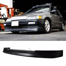Fit 88-90 Honda Civic Front Bumper Lip EF 4D Sedan 3D HB CS PU