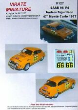 V127 SAAB 96 V4 47° RALLYE MONTE CARLO 1977 ANDERS SIGURDSON DECALS VIRATE