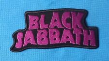 BLACK SABBATH PURPLE HEAVY METAL MUSIC ROCK SEW ON IRON ON PATCH BADGE