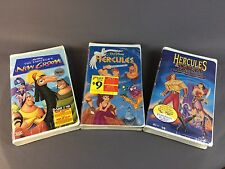 The Emperor's New Groove SEALED NEW VINTAGE Disney VHS Hercules Lot Of 3