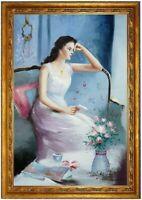 Ölbild erotische Frau handgemalt GEMÄLDE F: 60x90cm STARK REDUZIERT,TOTALABVERK