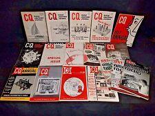 (17) Vintage CQ & QST Radio Amateurs Journals Years 1956-1965 Tube Ham Radios