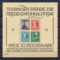 SBZ Block 2 t Thüringer Weihnachtsblock postfrisch FA einwandfrei (ts265)