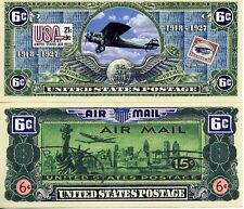AirMail 6¢ Bill Collectible Fake Play Funny Money Novelty Note
