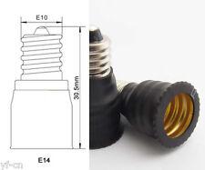 10pcs E10 Male to E14 Female Base LED Light Bulb Adapter Holder Socket Converter