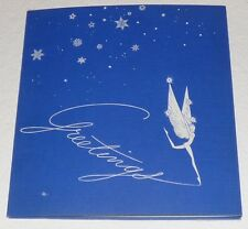 Disney Original 1940 Holiday Christmas Card Fantasia Mickey Mouse Snow White