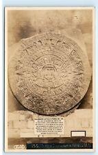 *Calendario Azteca O Piedra Del Sol Mexico Vintage Aztec Calendar Postcard C81