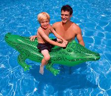 Krokodil aufblasbar Boot Liege Bestway Pool Strand Kinderbadespaß