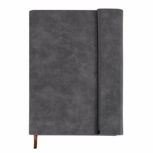 Paper Junkie Grey Faux Leather A5 Journal Notebook Diary with Magnetic Closure