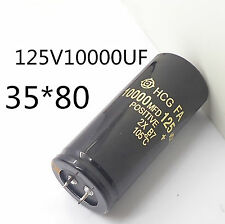 4PC Electrolytic Capacitor 125V 10000uF 35x80mm can replace 120V 100V Audio #J05