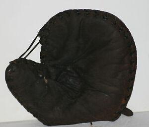 "Circa 1900-1910, Buckle Back,  Baseman Glove.  9.75"" wide x 8.5"" high"