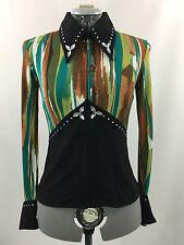 M(8-10) Western Show Pleasure Rail Shirt Jacket Clothes Showmanship Horsemanship