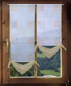 Scheibenhänger Türbehang Clarissa mit Tunnelzug in 3 Größen Bad-Küchengardine