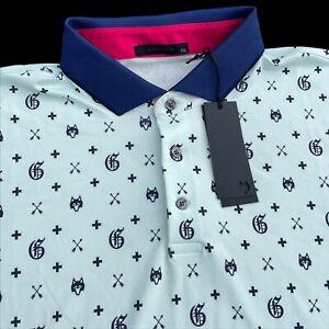 Greyson Golf GOAT Performance Short Sleeve Polo Shirt Julep 2XL $110