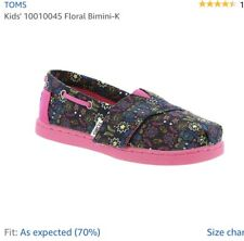TOMS Baby Girls Bimini Shoes-Tiny 5- Navy Multi Forest Floral