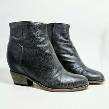 MM6 Maison Margiela Hidden Wedge Ankle Boot Pebbled Gray Size 38 7.5