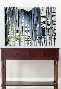 Blue Original Abstract Painting/Blue Gray Canvas Print direct from the Artist
