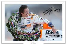 DAN WHELDON INDY CAR SIGNED AUTOGRAPH PHOTO PRINT FORMULA ONE F1