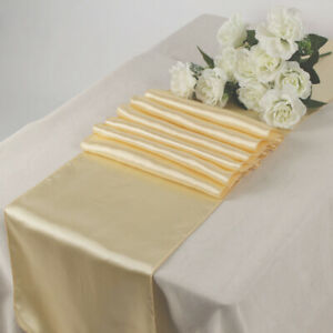 """1/10/12/15/20/25 - SATIN Table Runners Sash wedding party decoration 12"""" X 108"""""""