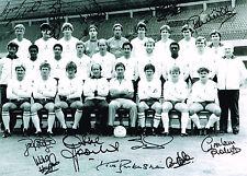 SALE 1984 UEFA CUP SPURS HAND SIGNED X 12 PHOTO AUTOGRAPH COA TOTTENHAM HOTSPUR