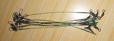 Lot de 30 bas de ligne aciers vert de 18 cm pour le brochet