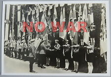 WWII ORIGINAL OLD PHOTO GERMAN BOYS FROM YOUTH ORGANISATION W BANNERS PARADE