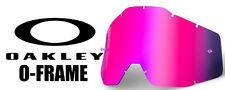 Goggle Shop MX Motocross Tear off Goggle lens for Oakley O-frame - Mirror Pink