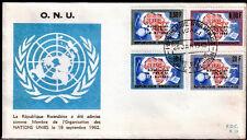 RWANDA FDC 13 - ONU ORGANISATION DES NATIONS UNIES - 1963 LUXE