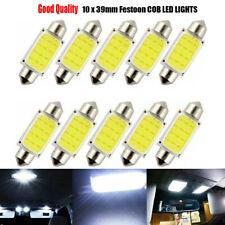 10Pcs Bright White 39mm COB C5W Car Vehicle Festoon Dome Interior Led Light Bulb