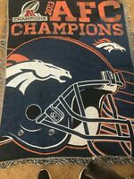 NFL Denver Broncos 2013 AFC Division Champs Woven Tapestry/Throw/Wall Hanging