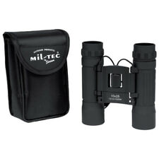 BINOCULAR 10x25 OUTDOOR CADET CAMPING HIKING TRAVEL FOLDABLE & CARRY POUCH BLACK