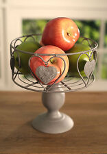 Fruit Bowl Country Style Tin Heart French Provincial Home Decor Gift 20cms NEW