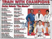 Carlos Valente Signed 5x6 Magazine Ad Photo UFC BJJ Jiu-Jitsu Picture Autograph