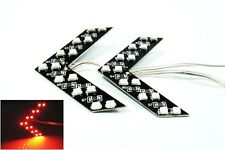 2 Red 14 SMD LED Arrow Panel Car Rear View Side Mirror Turn Signal Blinker Light