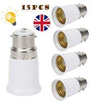 15Pack Bayonet BC B22 to ES E27 Socket Converter Lamp Base Adapter Lamp Holder