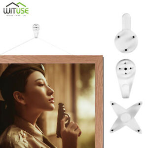wall picture hooks invisible nail photo frame clock mirror traceless hanger C37