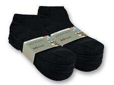 10 hasta 100 X Par Calcetines De Deporte Algodón Mujer & Hombres Negro&Blanco