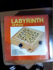 Juego Labyrinth de Madera  Natural, con 2 Bolas, Juego de Habilidad